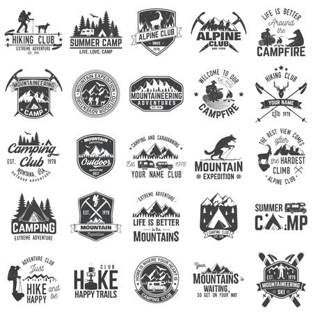 Set of extreme adventure badges. Concept for shirt or logo, print, stamp or tee. Illustration