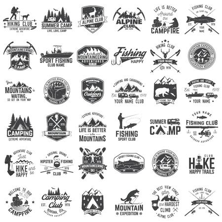 Set van extreme avontuur badges. Concept voor shirt of logo, print, postzegel of tee. Stockfoto - 86251109