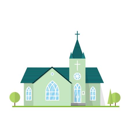 カトリック教会の風景です。  イラスト・ベクター素材