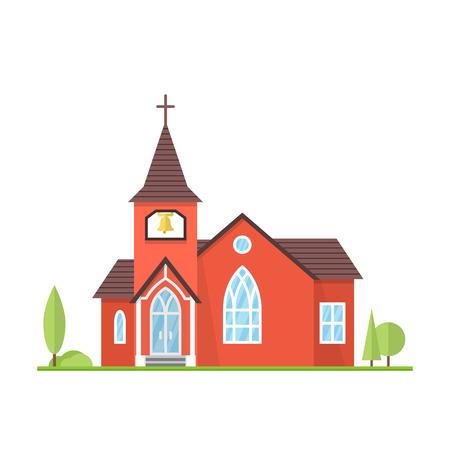 easter cross: Catholic Church landscape.