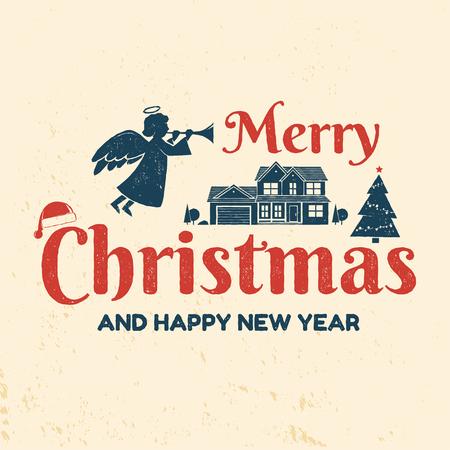 非常にメリー クリスマスと幸せな新年があります。
