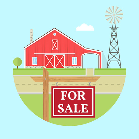 Family farmhouse icon isolated on blue background