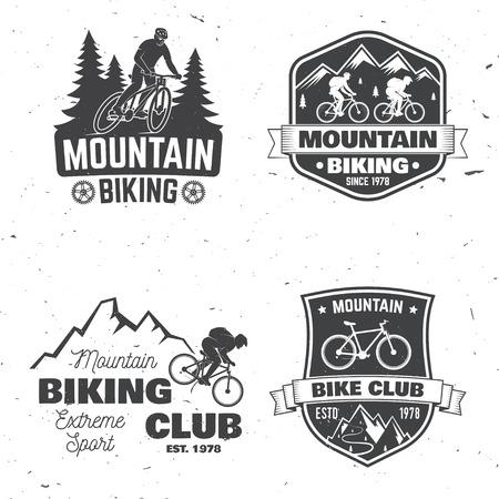 산악 자전거 클럽 간판 세트입니다.