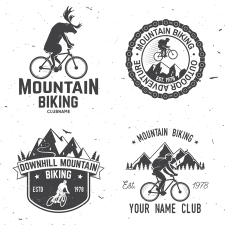 Set of Mountain biking clubs. Vector illustration. Illustration