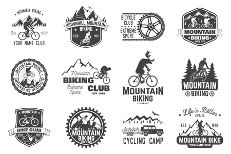 Mountainbike-collectie. Vector illustratie. Stock Illustratie