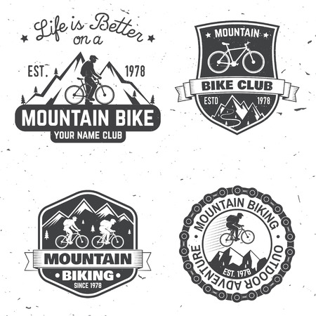 Set of Mountain biking clubs. Vector illustration. Illusztráció