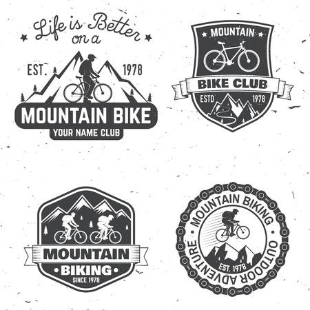 Set of Mountain biking clubs. Vector illustration. Illustration