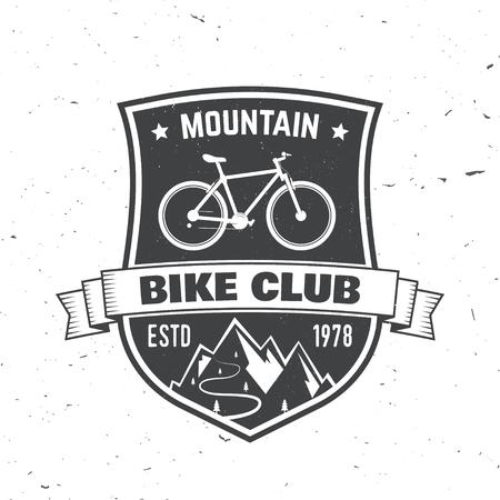 산악 자전거 클럽. 벡터 일러스트 레이 션. 일러스트