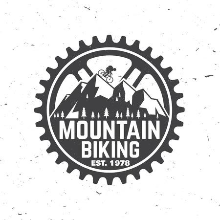 山 bikings クラブのセットです。ベクトルの図。  イラスト・ベクター素材