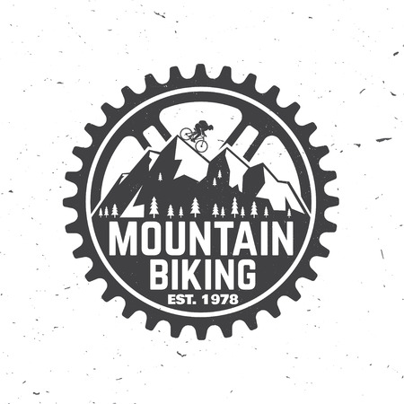 Satz von Mountainbike-Clubs. Vektor-illustration