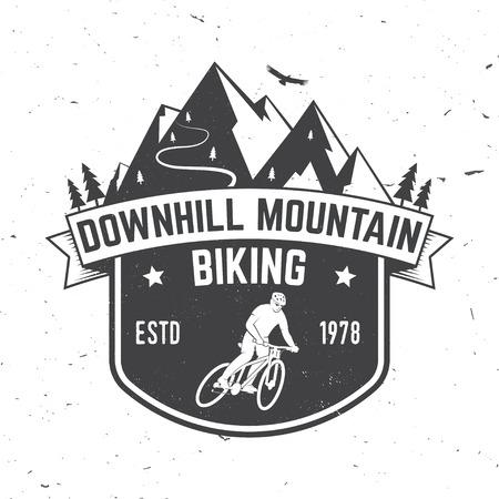 Downhill mountain biking. Vector illustration. Illustration