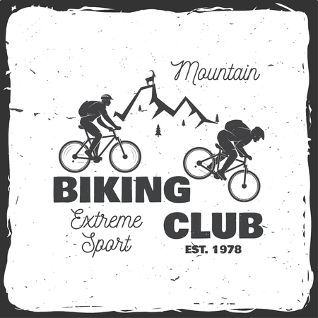Mountain biking club. Vector illustration.
