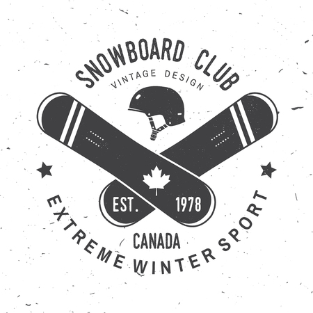 Snowboard Club. Vector illustration. Concept for shirt, print, stamp or tee. Иллюстрация