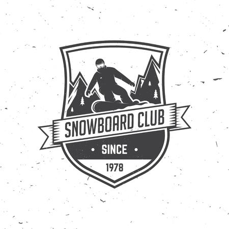 Snowboard Club. Vector illustratie.