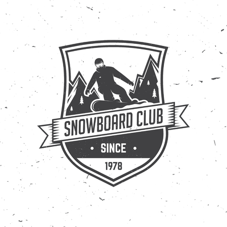 Snowboard Club. Vector illustration. Illustration