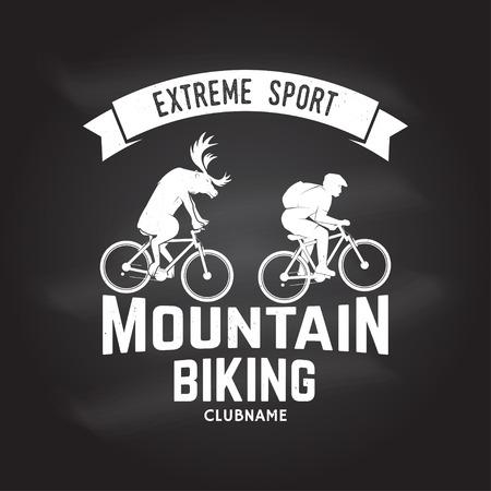 Mountain biking clubname. Vector illustration. 版權商用圖片
