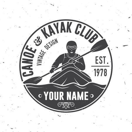 Canoe and kayak club vector illustration.