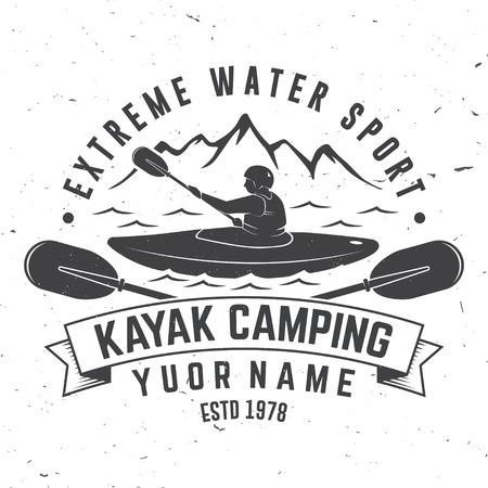 Kajak camping vector illustratie.