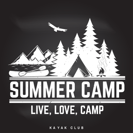 Summer camp. Vector illustration. Concept for shirt, print, stamp or tee.