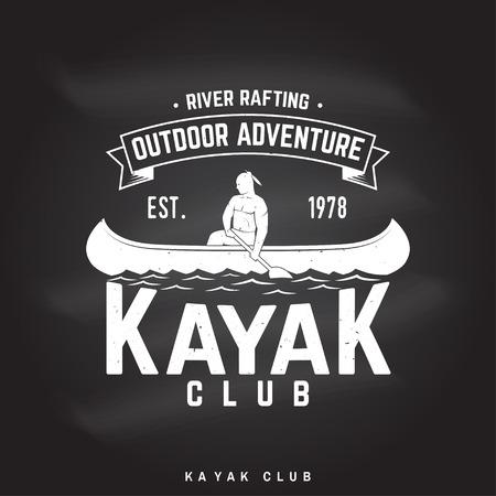 Kayak club Vector illustration. Stock Illustratie