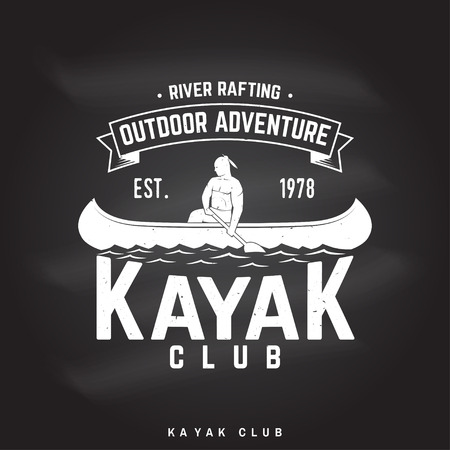 Kayak club Vector illustration. Ilustrace