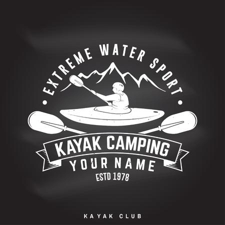 Kayak camping Vector illustration. Stok Fotoğraf - 93687661