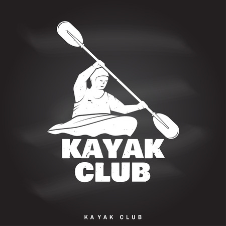 カヤッククラブベクトルイラスト。