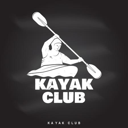 Kayak club Vector illustration. 일러스트
