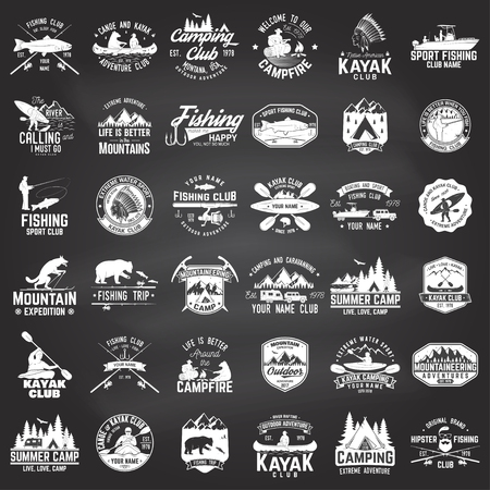 Set of Vintage design Extreme adventure symbols