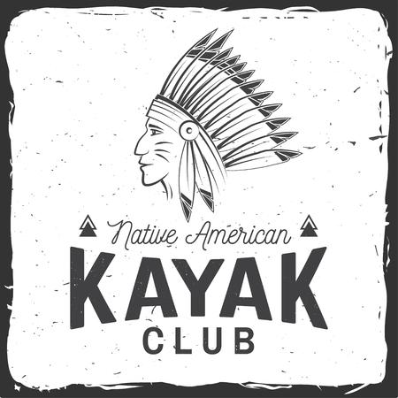 Kayak club. Vector illustration.