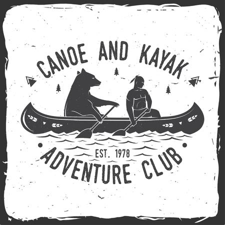 Canoe and Kayak club. Vector illustration. Illustration