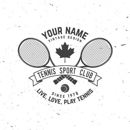 Club de tennis. Illustration vectorielle Banque d'images - 94844610