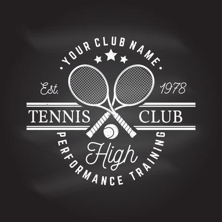 Tennis club. Vector illustration. Vectores