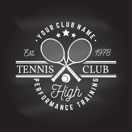 Tennis club. Vector illustration. Ilustracja