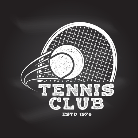Tennis club. Vector illustration. Vettoriali