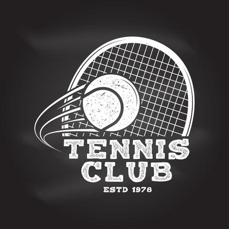 Klub Tenisowy. Ilustracji wektorowych.