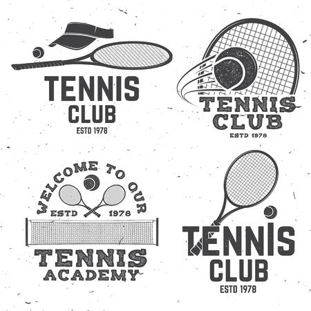 Tennis club. Vector illustration. Çizim