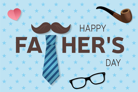 Happy Father s Day greeting card. Happy Father s Day poster. Vector illustration.