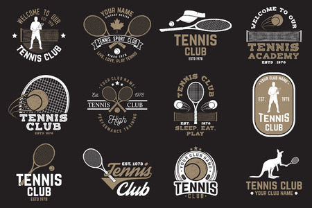 Set of Tennis club badges Illusztráció