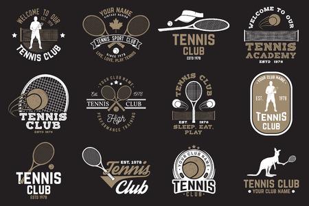 Set of Tennis club badges 向量圖像