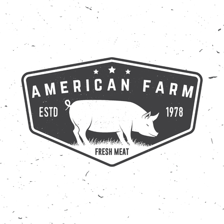 American Farm Badge or Label. Vector illustration. Illustration