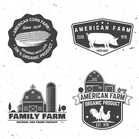 American Farm Badge of label. Vector illustratie Stockfoto - 96659063