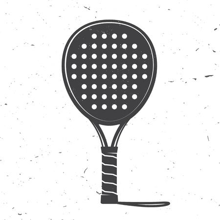 Ikona rakiety tenisowe do padla. Ilustracja wektorowa.