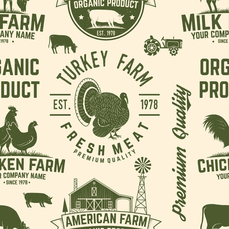 American Farm seamless pattern vector. Illustration