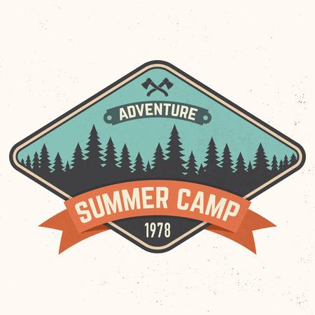 Summer camp patch Vector illustration. Иллюстрация