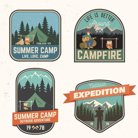 Summer camp. Vector illustration. Concept for shirt or logo, print, stamp or tee. Иллюстрация
