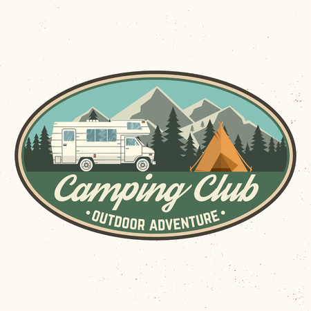 Camping club. Vector illustration. Stock Illustratie