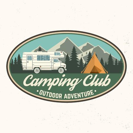 Camping club. Vector illustration. Illustration