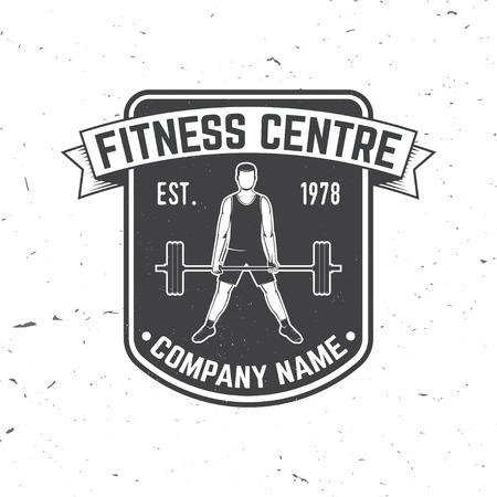 Fitness centre badge. Vector. For fitness centers emblems, gym signs