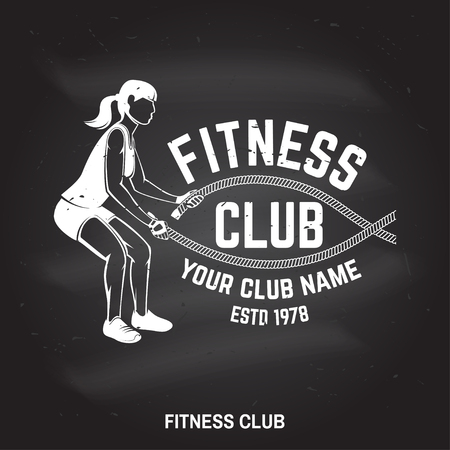 Fitness club badge. Vector illustration. Illustration
